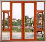 Le style européen à grande échelle porte en verre à battants en aluminium avec décoration Grill (ACD-003)