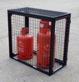 Jaula del acoplamiento de alambre del almacenaje del cilindro de gas con la azotea