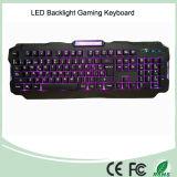 Три регулируемых цвета подсветки USB проводной клавиатуры для игр со светодиодной подсветкой (КБ-1901EL)
