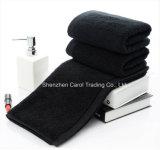 Черный цвет хлопка обычная с двойной обратной связью полотенца