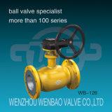 O GOST Pn40 todo soldou a válvula de esfera flangeada da flutuação do aço 20