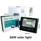 LED de energia solar no exterior do sensor de jardim relvado do Holofote do Refletor da retaguarda