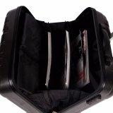 黒いカラーハイブリッド荷物のトロリー荷物一定ABS+PCの荷物袋のラップトップの荷物