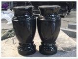 Vasi di fiore neri Polished all'ingrosso del granito della Cina per le pietre tombali