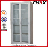 강철 내각 금속 찬장 4 유리제 문 사무실 서류 캐비넷 구조에 의하여 주문을 받아서 만들어지는 Cmax-FC04-003