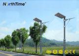 Nachladbare angeschaltene LED-Straßenlaternesolar mit Bewegungs-Fühler