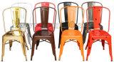 Самомоднейшее Tolix обедая стул с мягкой пусковой площадкой (DC-05001)