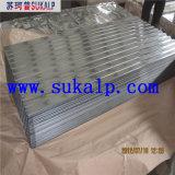 Material para techos acanalado transparente