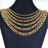 Women Fashion Jewelry Stainless Steel Necklace During Link Gold Chain