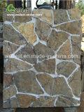 자연적인 느슨한 돌담 덮음 패턴 외부 벽 클래딩 돌 베니어 관례 색깔
