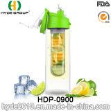 BPA освобождают бутылку воды Infuser фруктового сока Tritan, подгонянную пластичную бутылку вливания плодоовощ (HDP-0900)