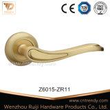 Traitement de levier en aluminium en alliage de zinc de porte d'or Polished (Z6004-ZR05)
