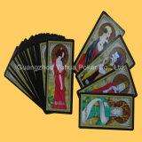 Cartões de jogo cinzentos dos cartões do jogo do papel de núcleo de Tarot da cor cheia
