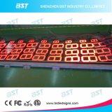 Segno esterno di prezzi di gas del LED con il segno mobile del LED