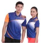 빛과 Breathable 건조한 적합 100%년 폴리에스테 Collared 테니스 셔츠