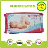 Konkurrenzfähiger Preis weißes Spunlace nichtgewebtes Gewebe-weich Baby-nasse Wischer