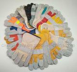 Усиленная перчатка работы кожаный руки защитная