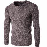 Gola Redonda do homem de algodão acrílico de Manga Longa Pulôver suéter