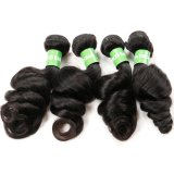 Tessuto allentato dei capelli di Remy dell'onda del Virgin di alta qualità peruviana dei capelli