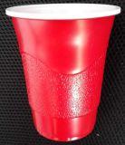 직접 공장 도매 처분할 수 있는 서리로 덥은 Surface16oz 450ml PS 플라스틱 빨간 당 컵