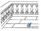 Modificado para requisitos particulares tallando el balaustre de piedra para la decoración