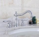 Robinet en laiton sans plomb de bassin de traitement de salle de bains de taraud d'eau de Cupc double