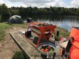 Le Grill de jardin avec barbecue portable de la cartouche instantanée Grill et valise Grill Portable Rotesserie plié grill au charbon avec le châssis et moteur de grille