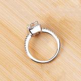 Темперамент украшения женщин девочек Белый Серебристый заполнены свадебные кольца