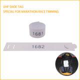 마라톤 인종을%s 단화에 고성능 UHF RFID 스포츠 타이밍 꼬리표 고침