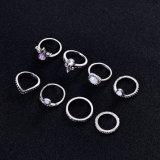 8pcsset Retro Anti Zilveren Anti Gouden Ring