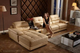Sofá da sala de visitas com o sofá de couro secional L Shap