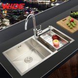 Best Quality를 가진 중국 Manufacturer Double Bowl Hand Made 304 Stainless Steel Kitchen Sink