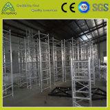 Алюминиевая ферменная конструкция этапа случая представления оборудования освещения