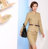Made to Measure Fashion Stylish Office Lady Formal Suit Slim Fit Pencil Calças Lápis Skirt Suit L51608