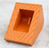 Затвор колеса автомобиля горячего сбывания прочный резиновый, затвор колеса высокого качества резиновый для клина автомобиля стоянкы автомобилей резиновый