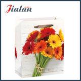 Ruban de fleurs de style en bois de corde achats quotidiens Papier de cadeau des sacs à main
