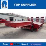タイタンのマルチ車軸7車軸油圧Lowloaderのトラックの低いベッドのトレーラー100トンの中国の低いベッドのトレーラー