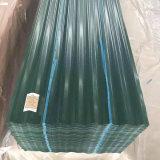 0.12-0.5 мм толщиной с полимерным покрытием оцинкованный гофрированный стальной пластины