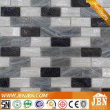 Mosaico di vetro neri, bianchi, grigi, di fusioni per la parete della vetrina (H438002)