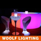 Table& 싼 의자를 위한 바 Stool& 다채로운 LED 커피