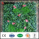 Rete fissa verde artificiale di plastica protettiva UV del foglio del giardino