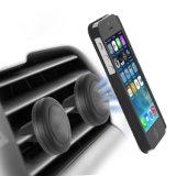 O suporte magnético universal do telefone da montagem do carro do respiradouro de ar da montagem magnética, para telefones de pilha e as mini tabuletas com rápido Rápido-Agarram a tecnologia, com as 4 placas de metal