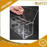 Cadre acrylique clair carré de renivellement d'étalage pour le chapeau/golf/chaussure/produit de beauté/basket-ball