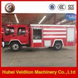 camion dei vigili del fuoco del serbatoio di acqua di 190HP 6m3 con il serbatoio della gomma piuma 2m3