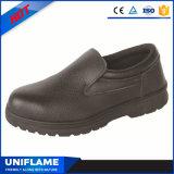 Únicas sapatas de trabalho de borracha Ufa046 da segurança do couro dos calçados