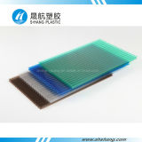 Panneau en plastique coloré de polycarbonate givré par cristal