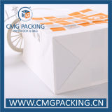 Papier d'emballage blanc Paper Bag avec Paper Twist Handle (CMG-MAY-013)