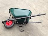 卸し売り鋼鉄プラットホーム手のカートの手押し車Wb7805の一輪車