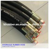 De Draad Gevlechte Fabrikant van uitstekende kwaliteit van de Slang van de Olie Bestand Flexibele Hydraulische Rubber