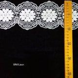 lace Scalloped Trim Lace Hm 결혼식을%s 미색 꽃 레이스 트리밍